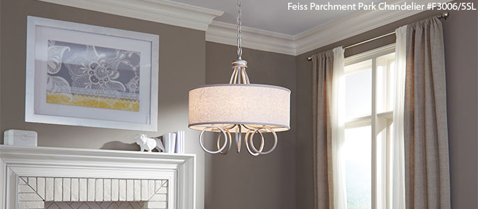 Feiss parchment park chandelier · read more murray feiss lighting atlanta →