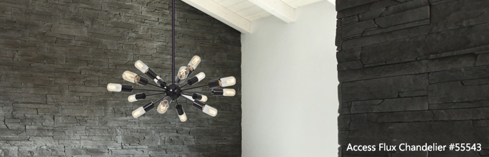 Access Lighting Flux Chandelier